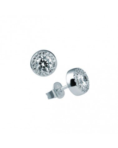 PENDIENTES DE PLATA IMITACION DE DIAMANTES 1,18 KILATES DIAMONFIRE 6214671082