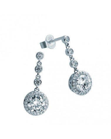 PENDIENTES DE PLATA IMITACION DE DIAMANTES 2,18 KILATES DIAMONFIRE 6214631082