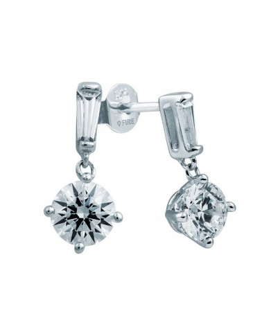 PENDIENTES DE PLATA IMITACION DE DIAMANTES 2,2 KILATES DIAMONFIRE 6213181082