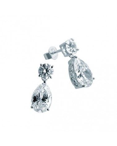 PENDIENTES DE PLATA IMITACION DE DIAMANTES 5,83 KILATES DIAMONFIRE 6214801082