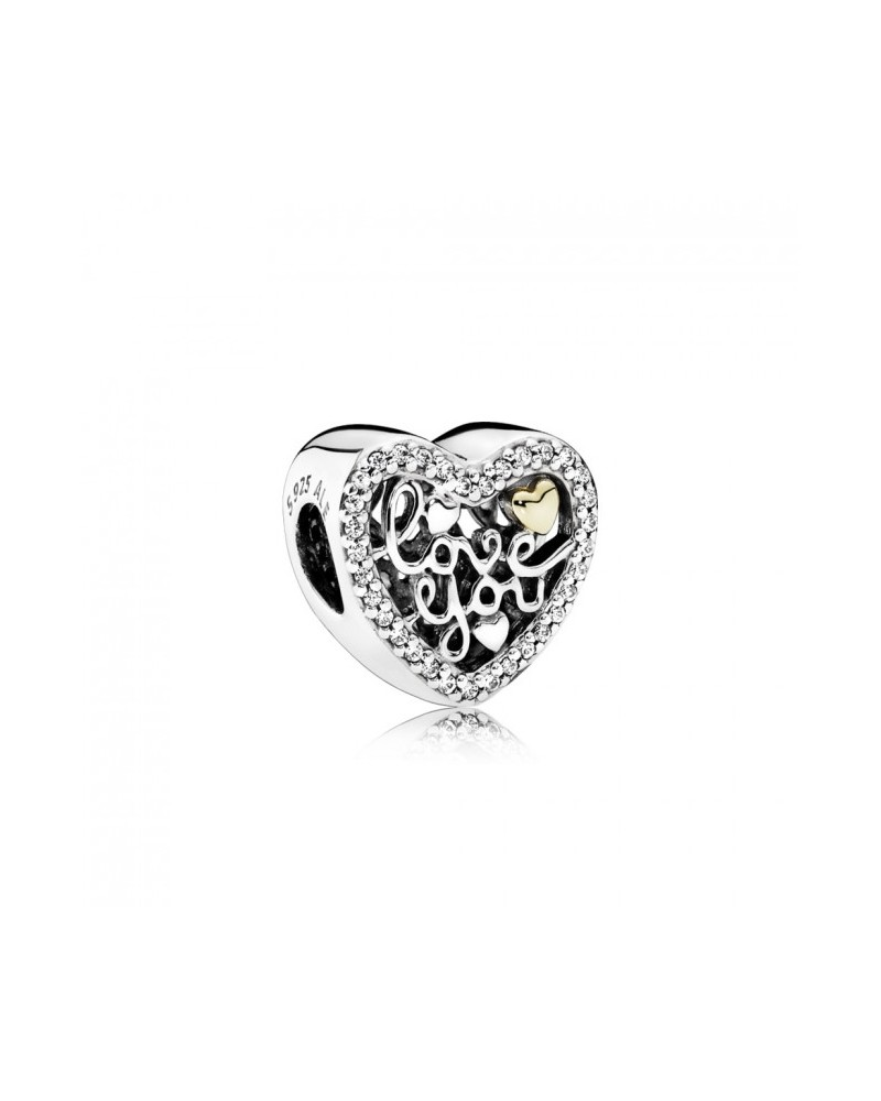 anillo corazon oro pandora