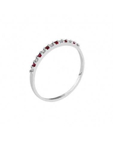 ANILLO DE DIAMANTES Y RUBIS RED