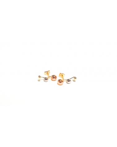 Pendientes Ear Cuff oro tricolor