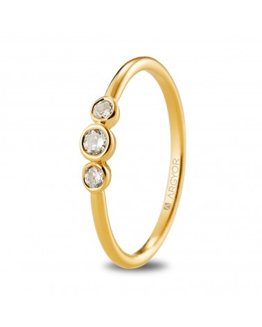 ANILLO ORO Y DIAMANTES TRESILLO 74A0073