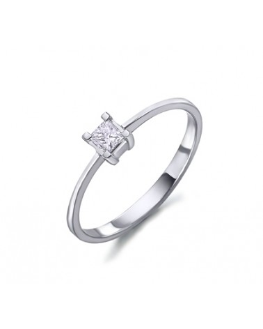 ANILLO ORO BLANCO Y DIAMANTES 00487