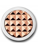 MI MONEDA PEQUEÑA ROSA STUD GOLD PLATED STAINLESS STEEL DISC 925 SILVER ROSEGOLD PLATED 3D-STU-03-S