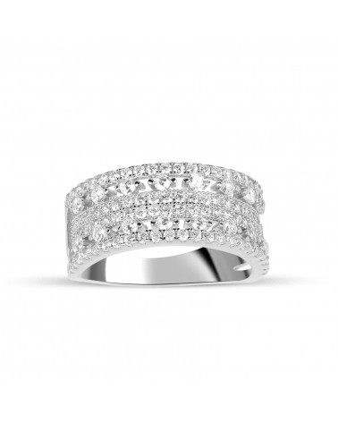 ANILLO DE PLATA DIAMANLY KH-8045