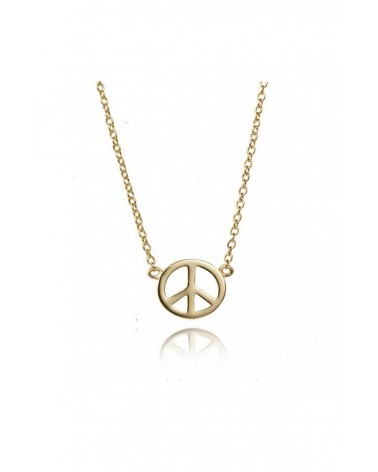 COLLAR PLATA GOLD PEACE