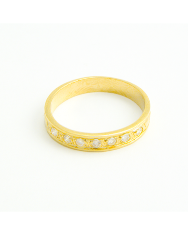 ANILLO DIAMANTES Y ORO AMARILLO