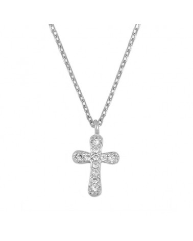 COLLAR ESTYLI SILVER CROSS