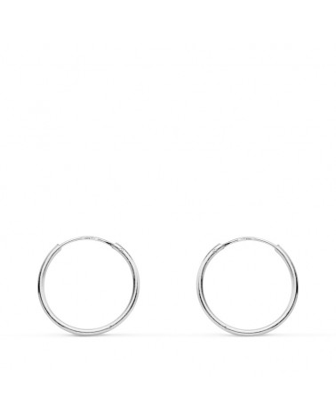 AROS DE ORO BLANCO 12MM