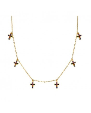 COLLAR ESTYLI CROSS IN GOLD