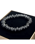 PULSERA DE PLATA EXTENSIBLE DARK ICE