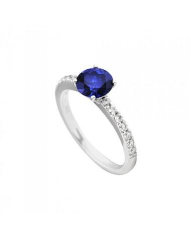 ANILLO DIAMONFIRE DE PLATA AZUL 6113661089