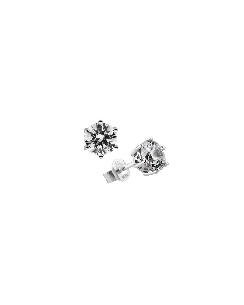 PENDIENTES DE PLATA IMITACION DE DIAMANTES 3 KILATES DIAMONFIRE 6212641082