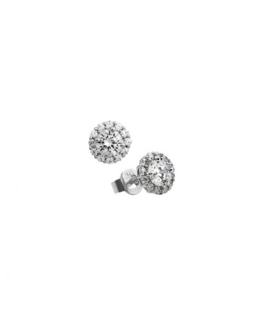 PENDIENTES DE PLATA IMITACION DE DIAMANTES 1,36 KILATES DIAMONFIRE 6207251082
