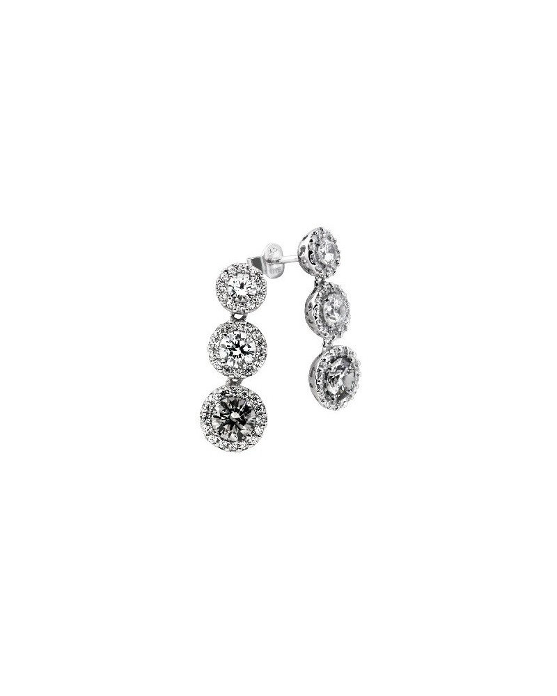 PENDIENTES DE PLATA IMITACION DE DIAMANTES 4,14 KILATES DIAMONFIRE 6209471562