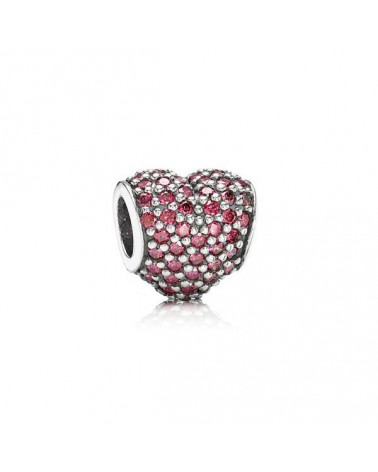 CHARM PANDORA CORAZON PAVE ROJO RED HEART 791052CRZ