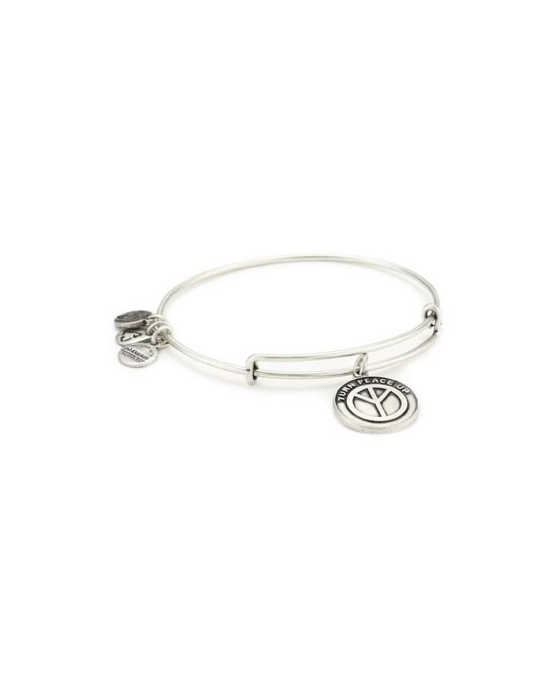 PULSERA ALEX AND ANI SIMBOLO PAZ BLANCA A12EB11RS