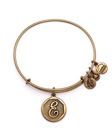 PULSERA LETRA E NEW ALEX AND ANI DORADA A13EB14EG