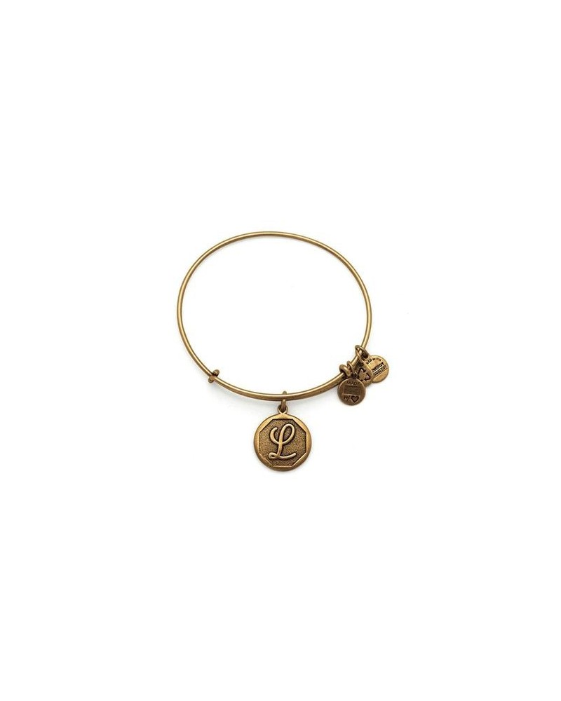 PULSERA LETRA L NEW ALEX AND ANI DORADA A13EB14LG