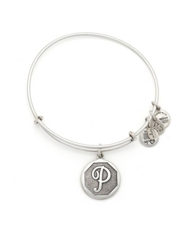 PULSERA LETRA P ALEX AND ANI BLANCA A13EB14PS