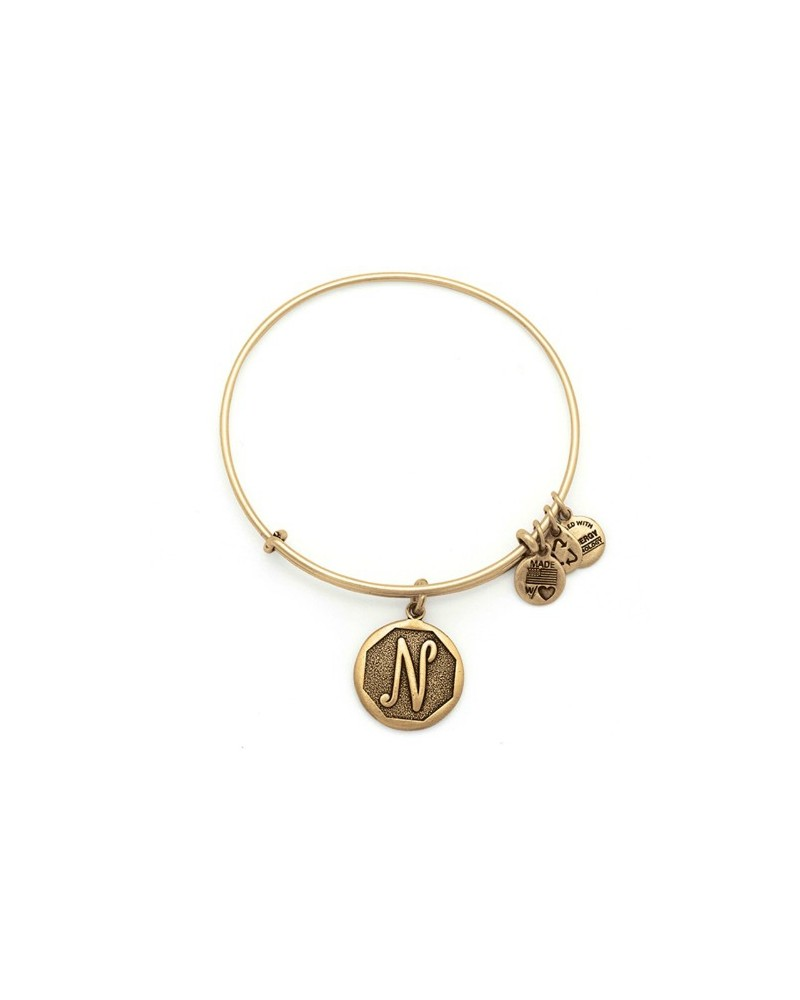 PULSERA ALEX AND ANI LETRA N NEW DORADA A13EB14NG