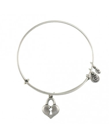 PULSERA ALEX AND ANI LLAVE CORAZON BLANCA ENVEJECIDA A09EB137RS