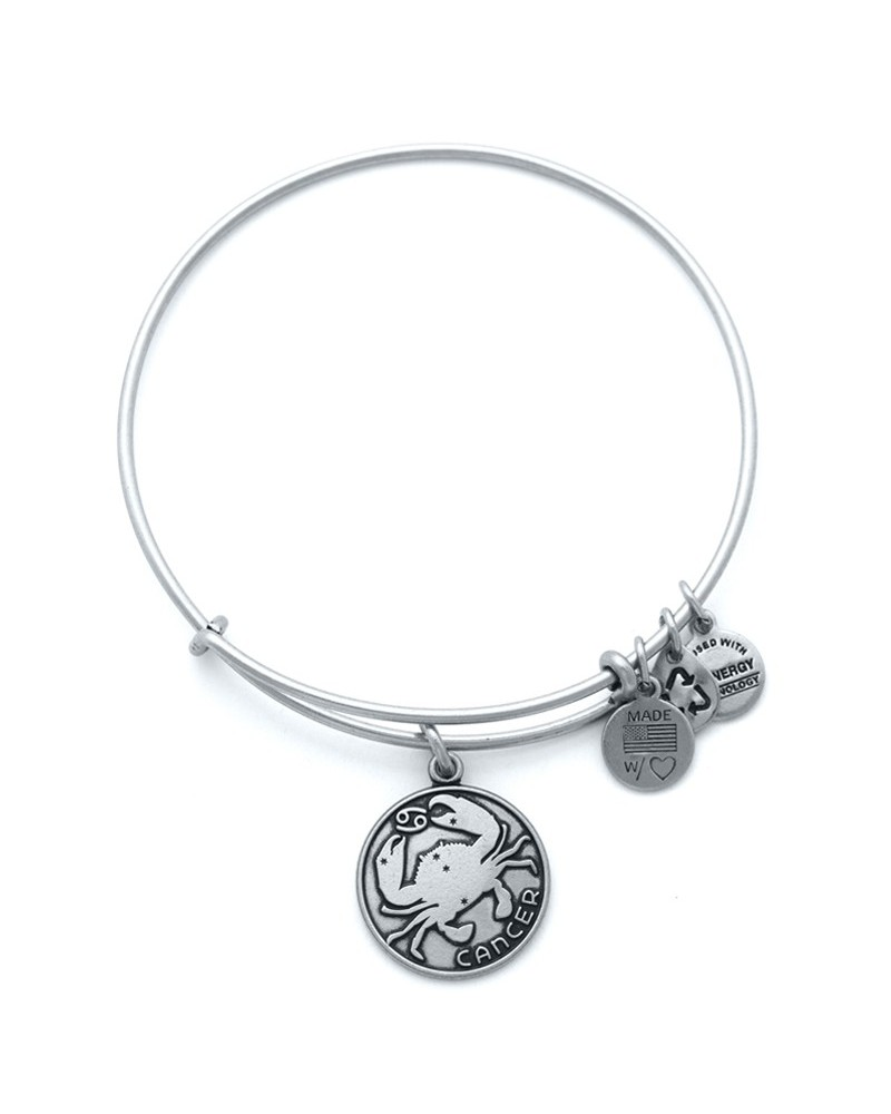 PULSERA ALEX AND ANI CANCER BLANCA ENVEJECIDA A13EB01CNRS