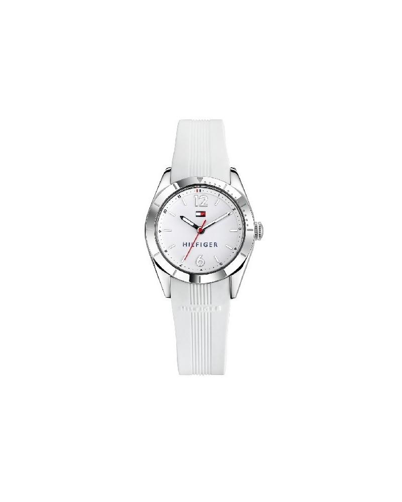 Reloj tommy hilfiger mujer caucho blanco