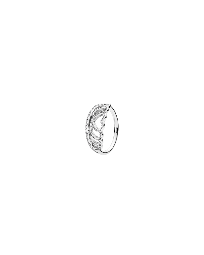 anillo corona pandora plata