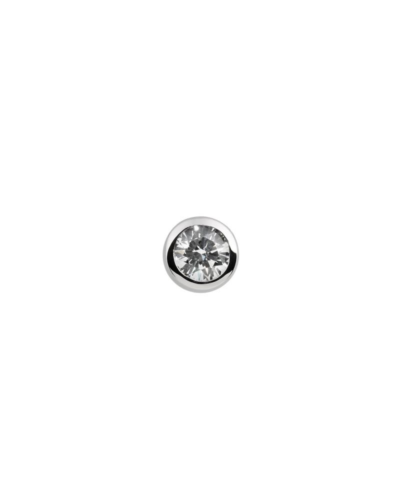 COLGANTE Y CADENA DE PLATA CON DIAMANTE DE IMITACION 0,75 KILATES DIAMONFIRE 6510101082