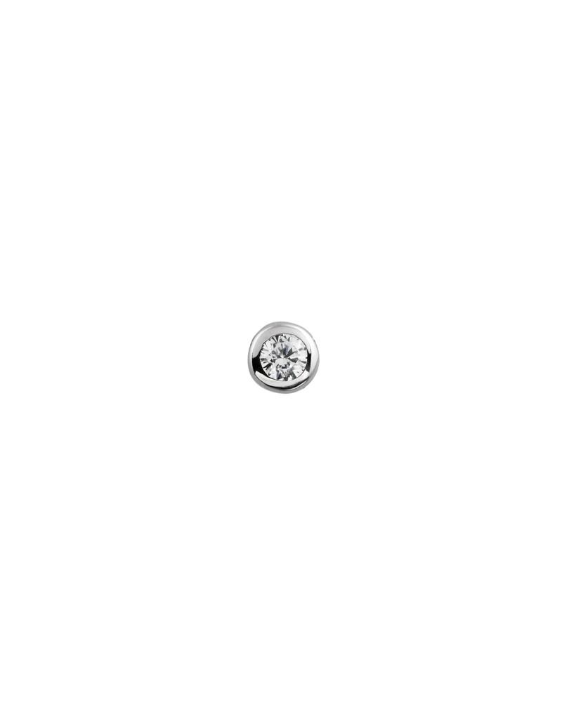 COLGANTE Y CADENA DE PLATA CON DIAMANTE DE IMITACION 0,25 KILATES DIAMONFIRE 6510121082