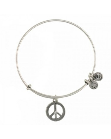 PULSERA ALEX AND ANI SIMBOLO PAZ BLANCA A09EB139RS